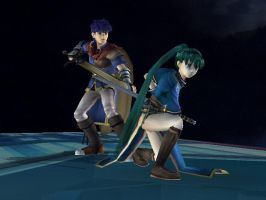 Ike and Lyn by NeoSwordsmanZ