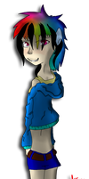 Request: Rainbow Dash Humanized by Nuclearpsychotic