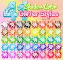 Shadow Color Glitter Styles by LexiVonEerie