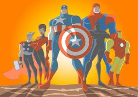 AVENGERS Old School by Apollorising