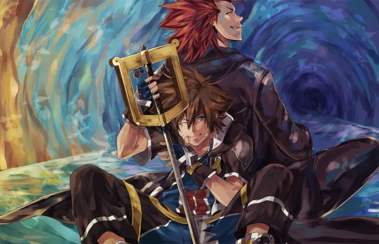 Sora and Axel - Betwixt and Between by MrLipschutz