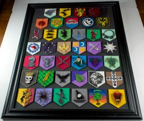 Game of Thrones Paper Quilling House Sigils Framed by wholedwarf