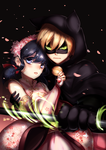 Chat Noir/Marinette by Ryuuthelazybunny