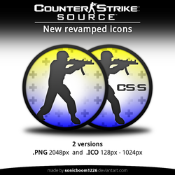 Counter-Strike: Source | New revamped icons by sonicboom1226