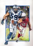 Luuuke Kuechly watercolors  9x12 by psdguy