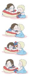 Steve and Bucky babies: Baby kiss by SilasSamle