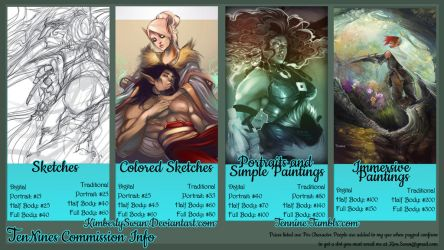 Summer 2014 commission pricing by KimberlySwan