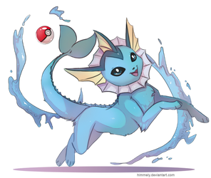 Vaporeon by Himmely