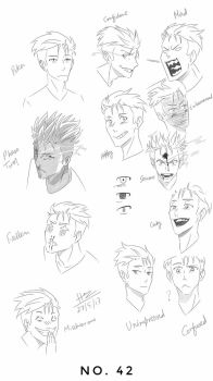 No. 42 Character Expressions  by trazor29