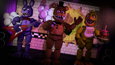 Freddy, Bonnie and Chica by AnimDarkness