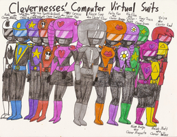 TCU - Clevernesses' Computer Virtual Suits by Magic-Kristina-KW