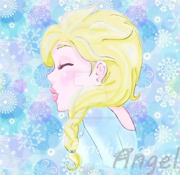 Elsa Background by amahakianangel