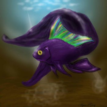 GIANT purple koi by Aqua2Grey