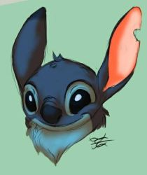 Daily Drawing Day 945 Smiley Stitch by MidnightHuntingWolf