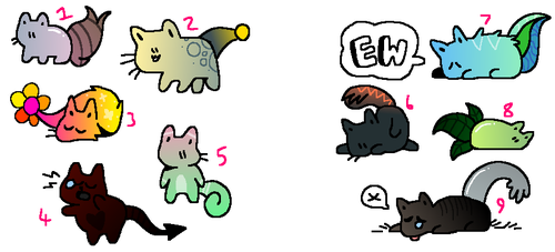 Cat Adopts (open) (cheap) by cloudny4n