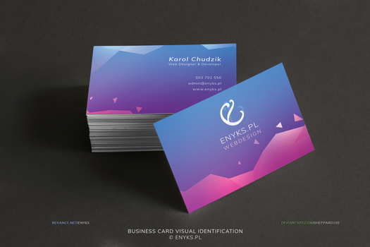 Business card visual identification by sheppard100