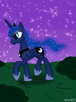 A walk in the night by Groovebird
