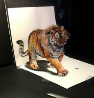 3d tiger (video available, link below) by Yakise