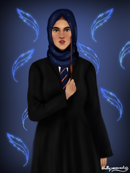 Hijabis At Hogwarts: Ravenclaw by chillyravenart
