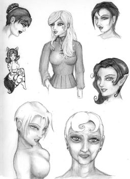 Just some ideas and sketchs 1 by C-Katt