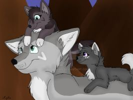 Greywind and his Daughters by BookPaws