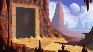 Standing at the Desert Door by Spacepretzel