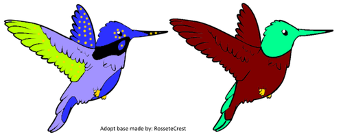 Humming Bird Adopts (adopts) by Amethyst-Wyrm