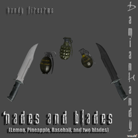'Nades and Blades Pack by DamianHandy