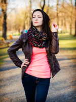 Ivana, sunset in park V by Zavorka