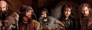 The Hobbit : 13 Dwarves ready to go ! by Ondjage