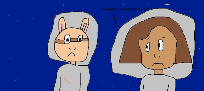 Arthur and Francine in outer space by TommyPicklesfan92