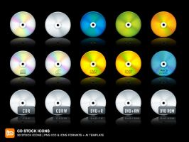 CD Stock Icons by deleket
