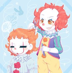 90's Pennywise the hairdresser by ChapyDraw