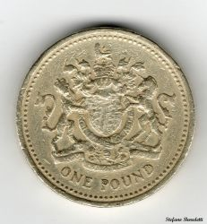 England - 1 Pound of 1993 by Book-Art