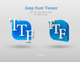 Amp Font Viewer dock icon by pshem