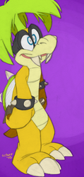 Palm tree hair koopaling by Scruffster