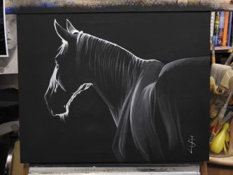 Night Horse by NorthumbrianArtist