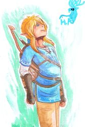 Commission - Link (Breath of the Wild) by Hurlespoir-Amelie