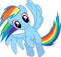 Rainbow Dash Spinning by Powerpuncher