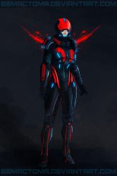 Jane Shepard Kestrel Navy and All Red by BBMacToma