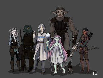 DnD Party by felbeing