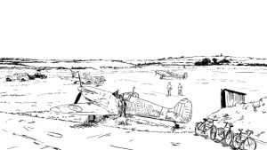 RAF Airfield (ink) by Fisher22
