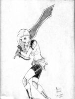 Girl With Big Sword by Ari-Spike-Nadelman