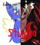 Two sides of Shimmerfur by ShimmerFur145