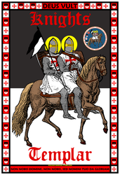 Knights Templar 13x19 Official Seal Poster by williammarshalstore