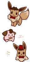 Eevee and Cleffa