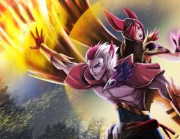 Xayah y Rakan - New Champion League of Legend by PatoIV