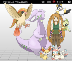 My Pokemon Trainer and his Team Female by PatrykGr