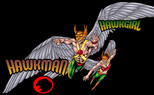 Golden Age Hawkman and Hawkgirl Wallpaper by Vampirewiccan