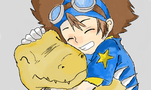 Tai and Agumon by AlucaarDD